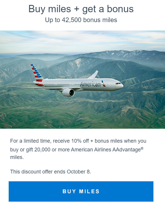 Only a Few People Will Take Advantage of this AAdvantage Miles Sale