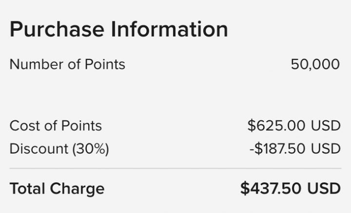 Should you buy Marriott points with a 30% discount?