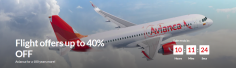 Today Only! Up to 40% off Your Avianca Flight!